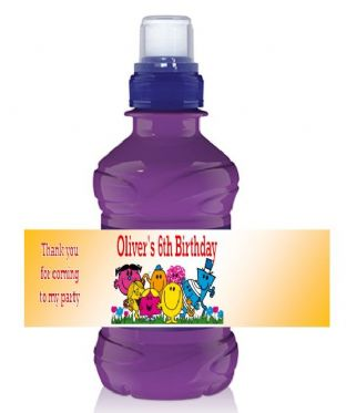 Mr Men Bottle Label Wrapper.